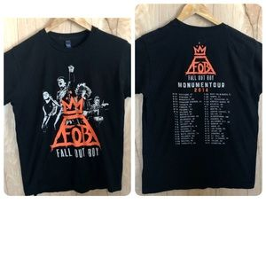 Fall Out boy t-shirt Monumentour 2014 tour Size M